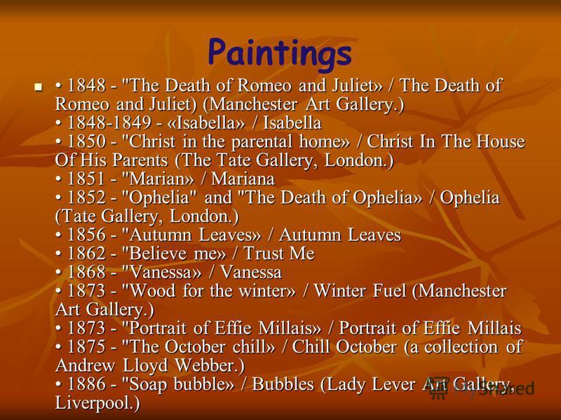 Paintings 1848 -