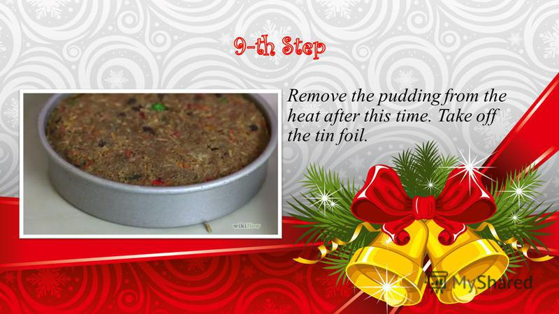 Remove the pudding from the heat after this time. Take off the tin foil.