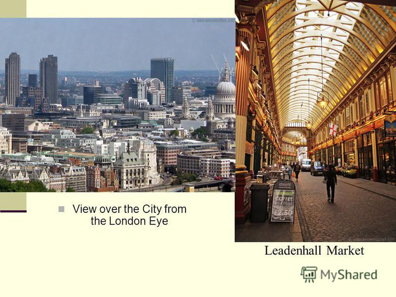 Leadenhall Market View over the City from the London Eye