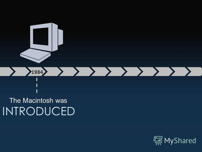 1984 The Macintosh was INTRODUCED