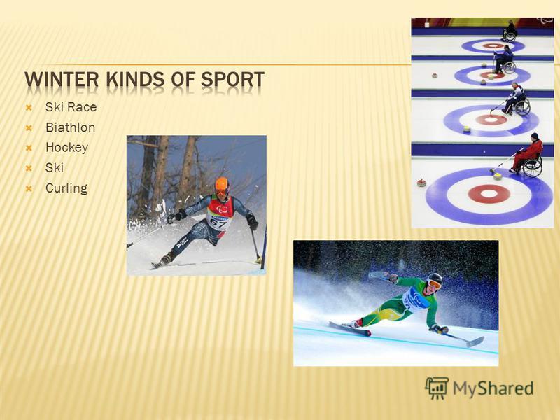 Ski Race Biathlon Hockey Ski Curling