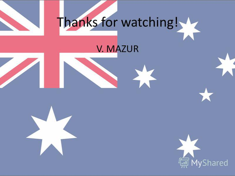 Thanks for watching! V. MAZUR