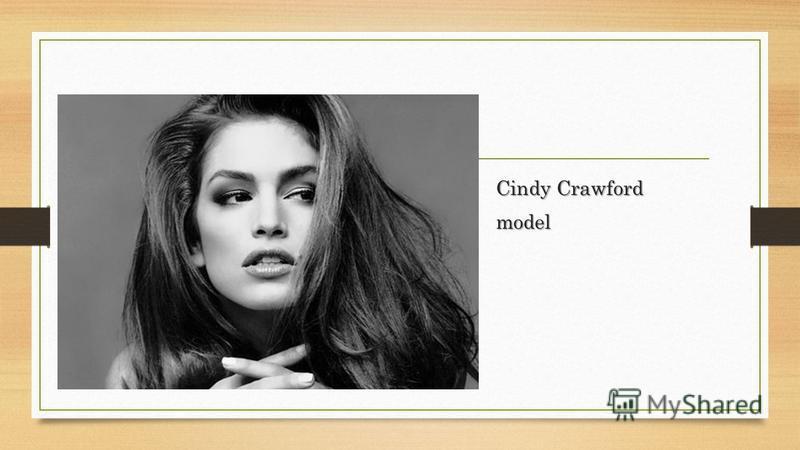 Cindy Crawford model