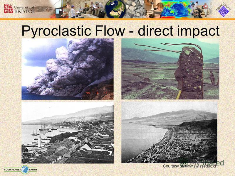 Pyroclastic Flow - direct impact Courtesy of www.swisseduc.ch