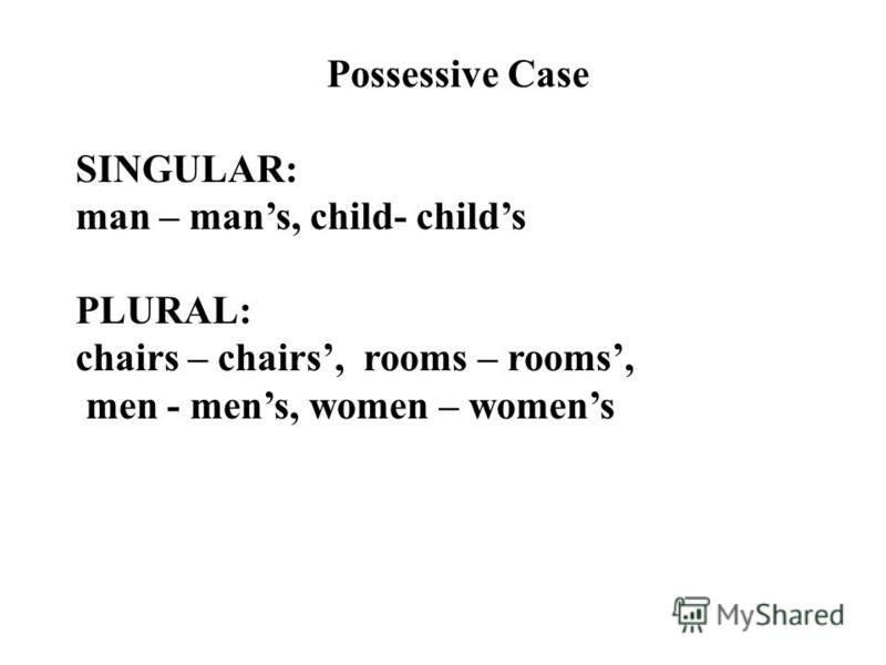 Plural Possessive Of Man 41