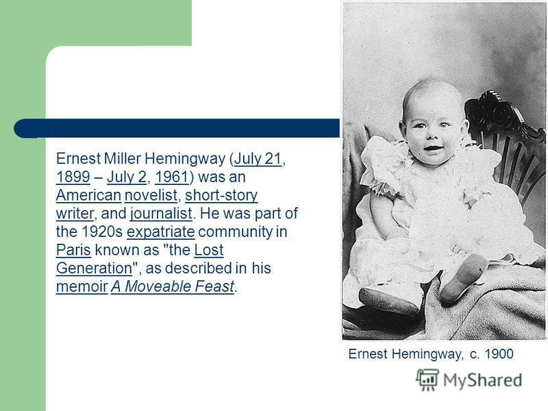 the similarities and differences between the writers of the lost generation ernest hemingway and wil Of characters between the two novels: ernest hemingway's the sun also similarities, the lost generation writers, ernest hemingway and f.