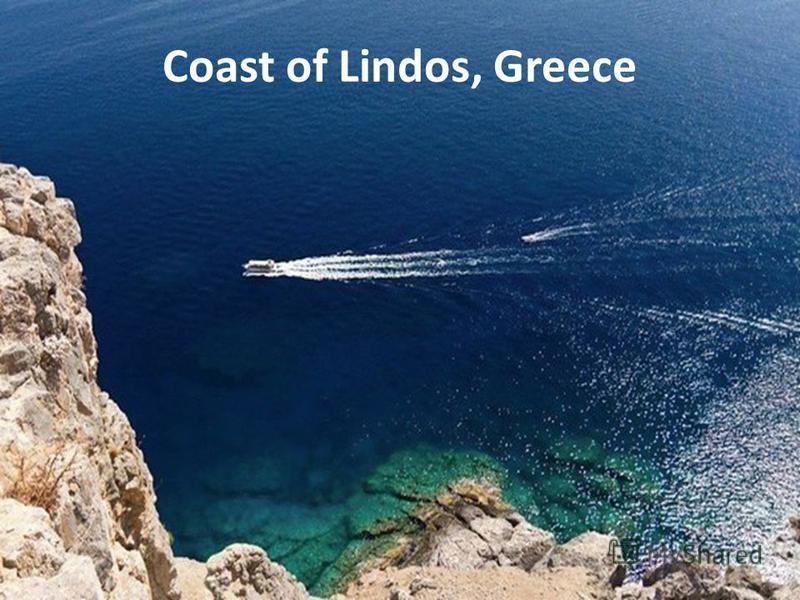 Coast of Lindos, Greece