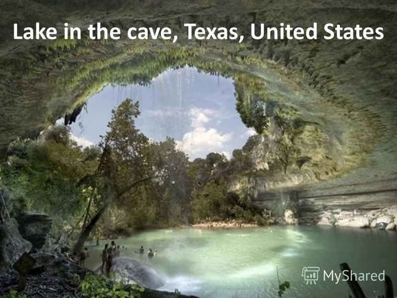 Lake in the cave, Texas, United States