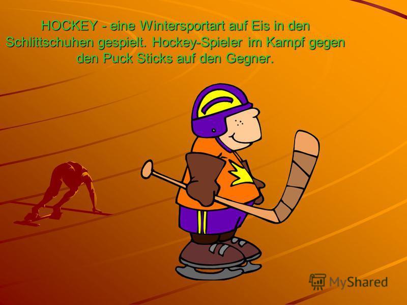 HOCKEY - eine Wintersportart auf Eis in den Schlittschuhen gespielt. Hockey-Spieler im Kampf gegen den Puck Sticks auf den Gegner.