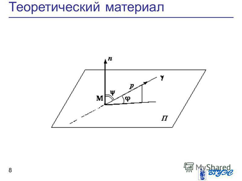 8 Теоретический материал
