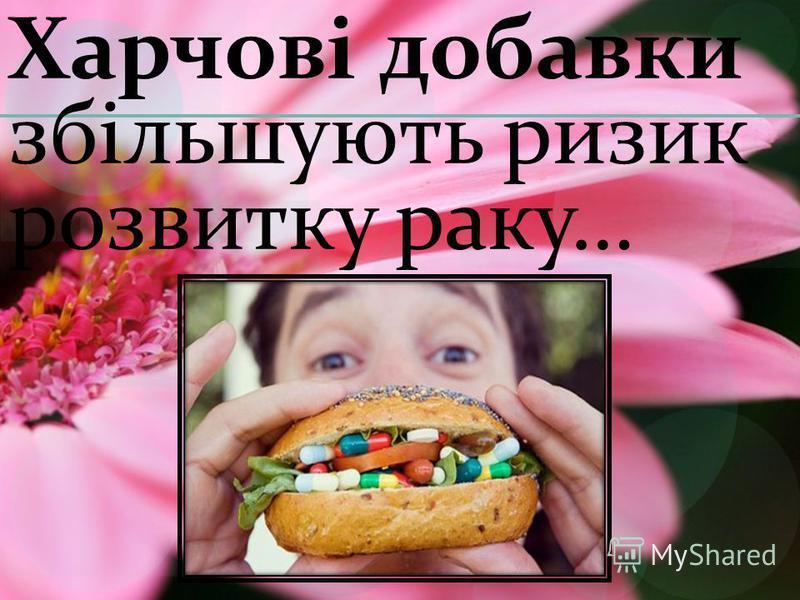 Харчові добавки збільшують ризик розвитку раку…