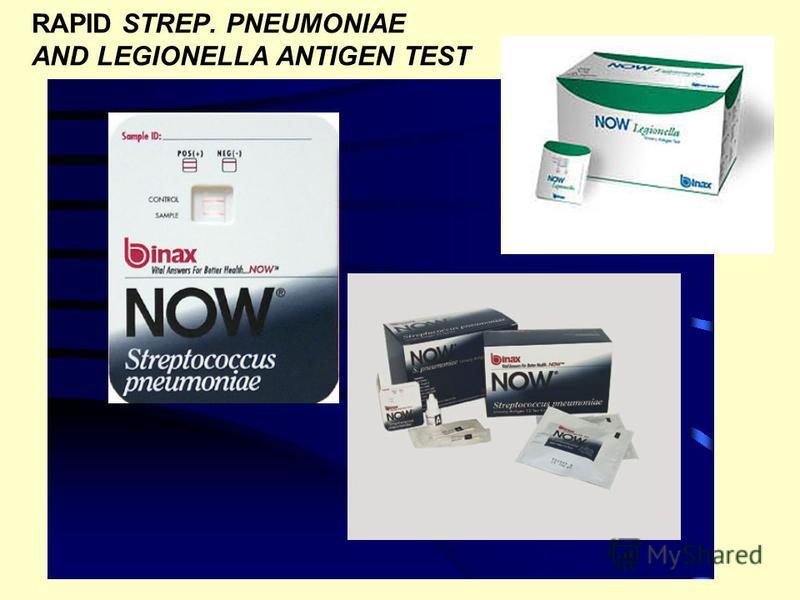 RAPID STREP. PNEUMONIAE AND LEGIONELLA ANTIGEN TEST