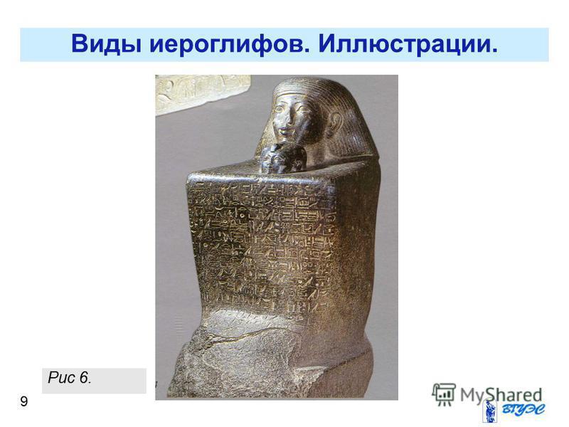 9 Виды иероглифов. Иллюстрации. Рис 6.