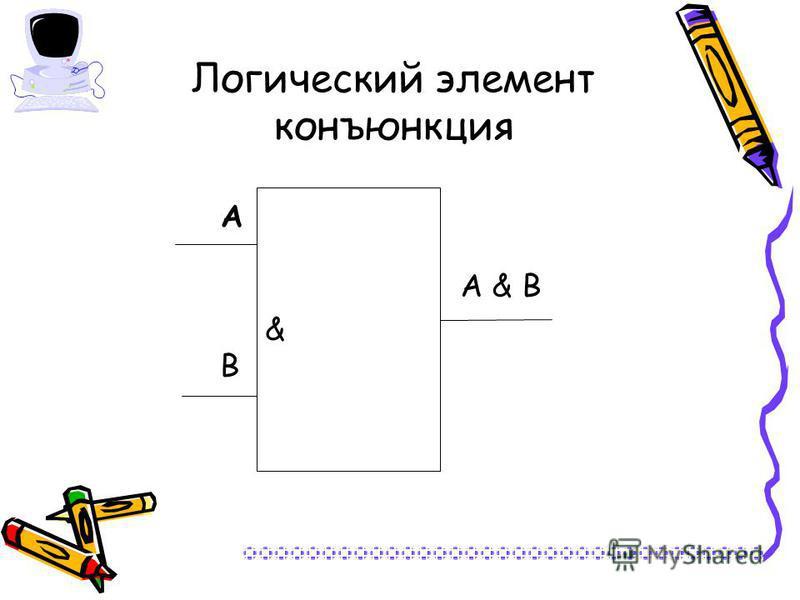 Логический элемент конъюнкция & А В А & В