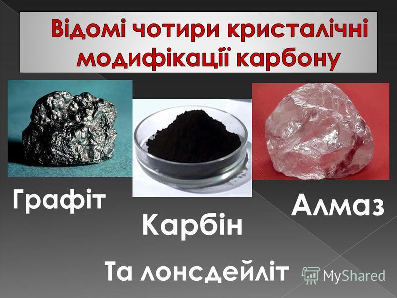 Графіт Алмаз Карбін Та лонсдейліт