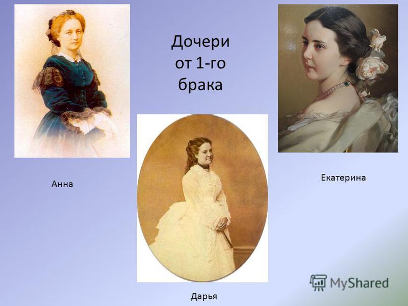 Дочери от 1-го брака Анна Дарья Екатерина