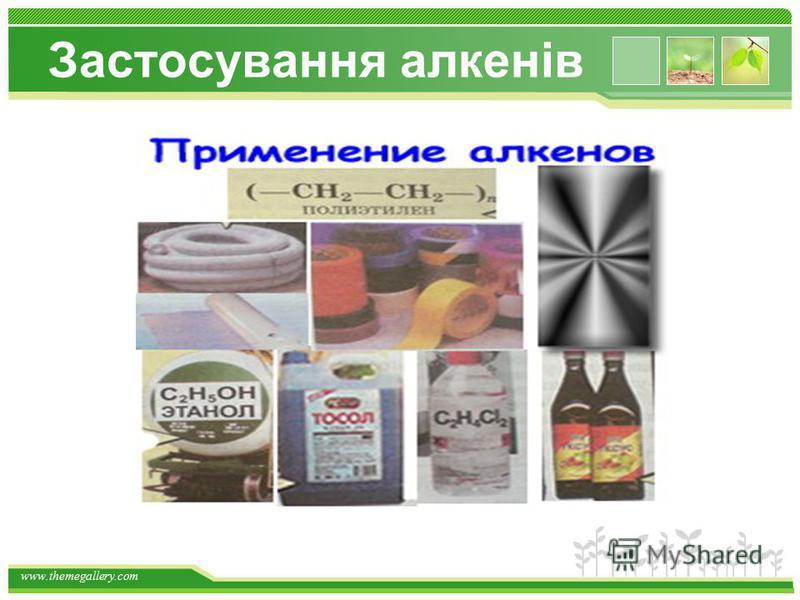 www.themegallery.com Застосування алканів
