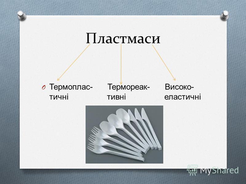 Пластмаси O Термоплас - Термореак - Високо - тичні тивні еластичні