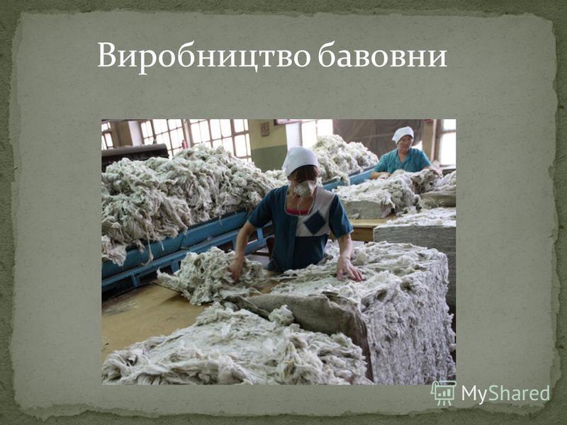 Виробництво бавовни