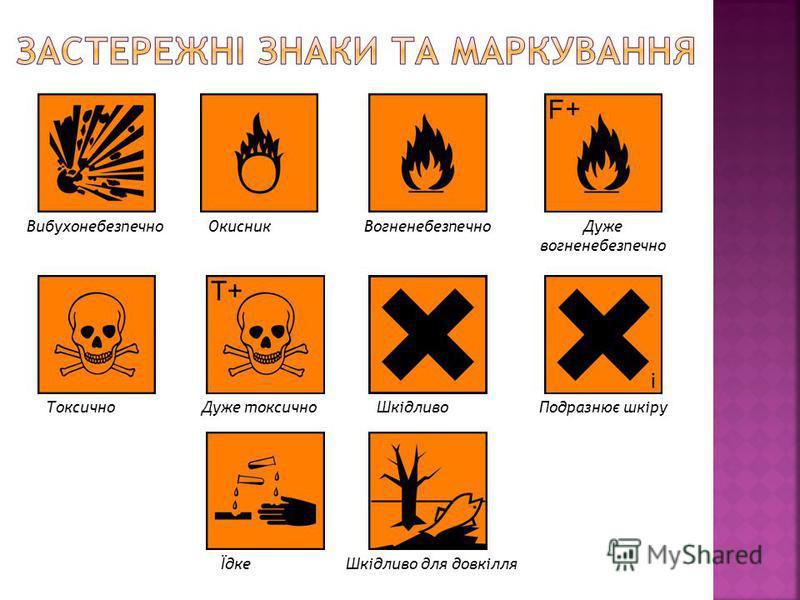 ВибухонебезпечноОкисникВогненебезпечноДуже вогненебезпечно ТоксичноДуже токсичноШкідливоПодразнює шкіру ЇдкеШкідливо для довкілля