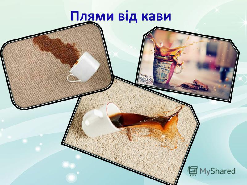 Плями від кави