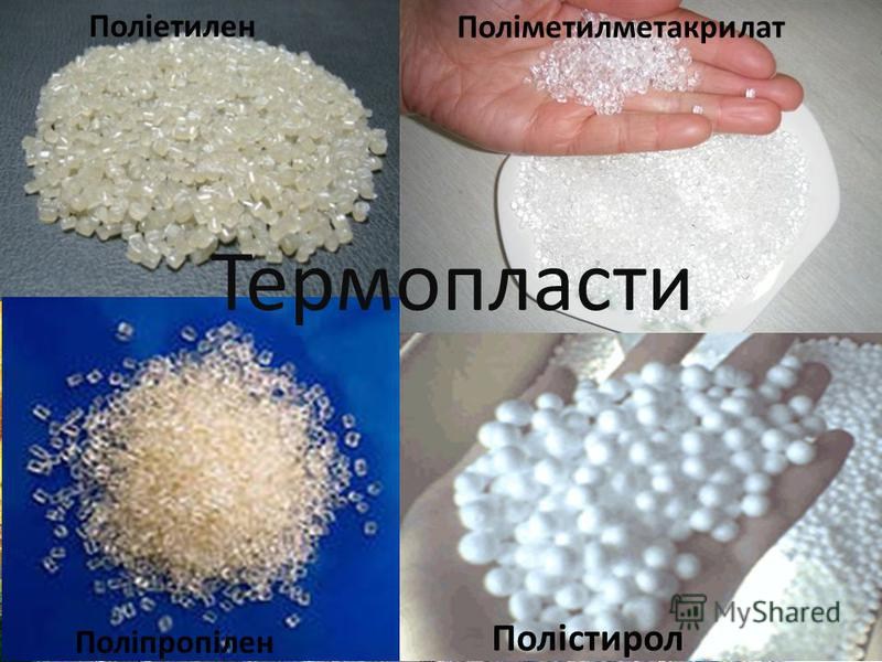 Термопласти Поліетилен Поліпропілен Полістирол Поліметилметакрилат