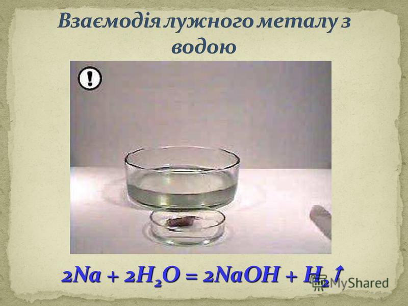 2Na + 2H 2 O = 2NaOH + H 2 2Na + 2H 2 O = 2NaOH + H 2