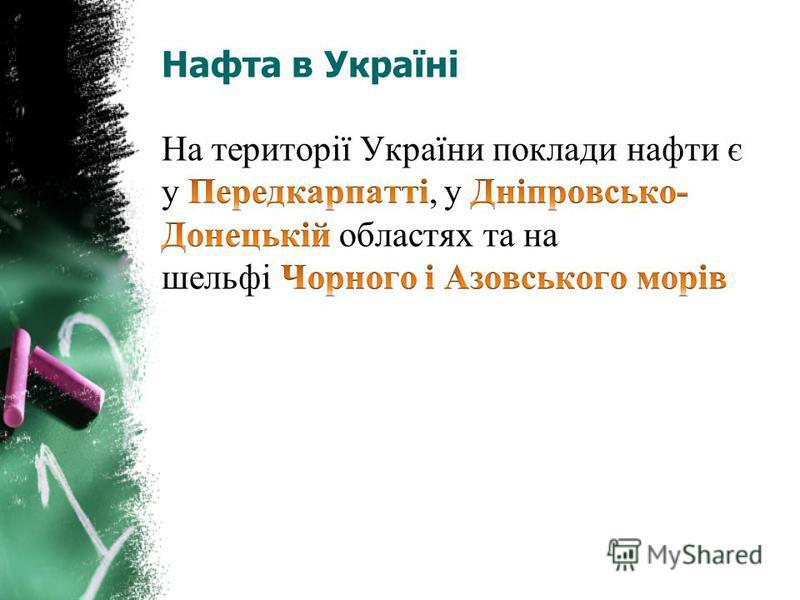 Нафта в Україні
