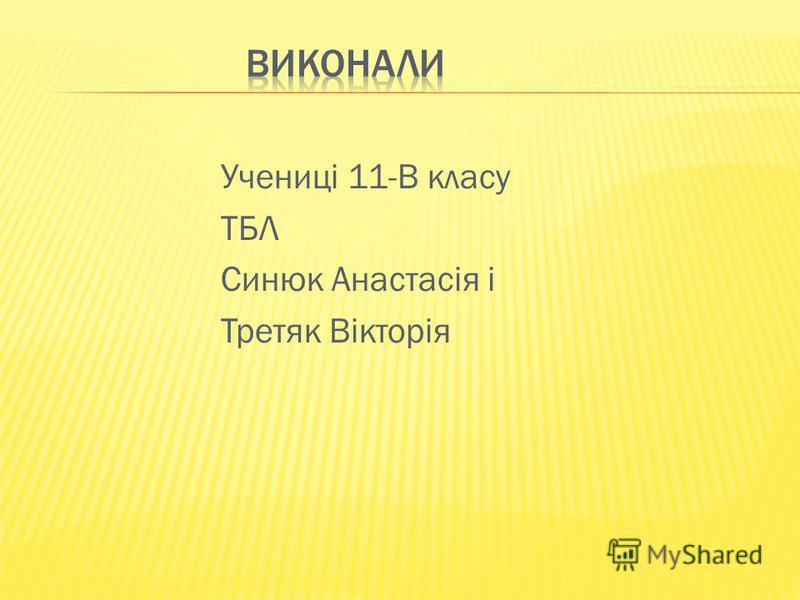 Учениці 11-В класу ТБЛ Синюк Анастасія і Третяк Вікторія