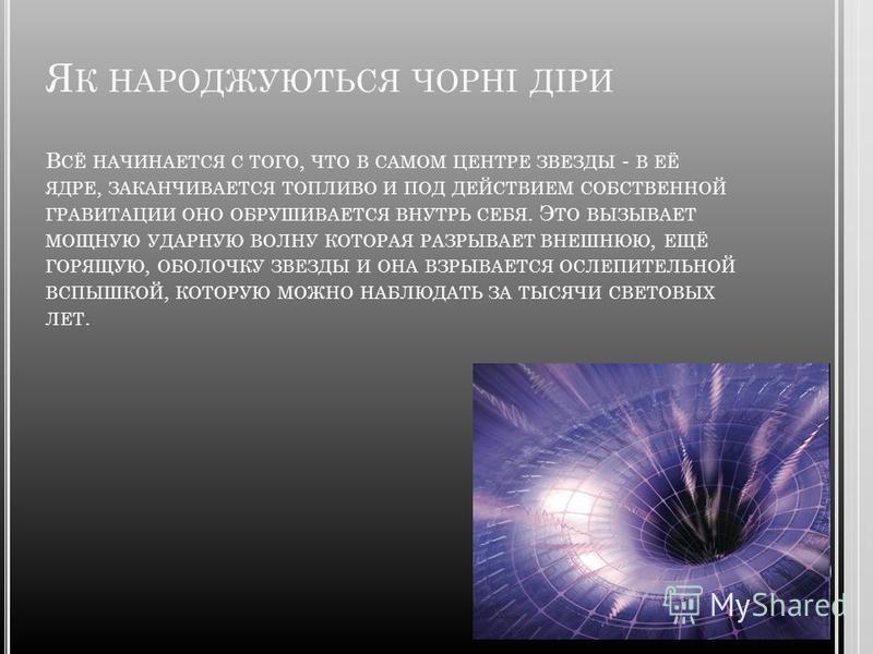 В ІДКРИТЯ Першою людиною, який припустив існування чорних дір, був французький математик XVIII століття Симон - П'єр де Лаплас, який, вивчаючи теорію тяжіння, висунув гіпотезу, що мають всі шанси присутності об'єкти, параболічна швидкість для яких ви