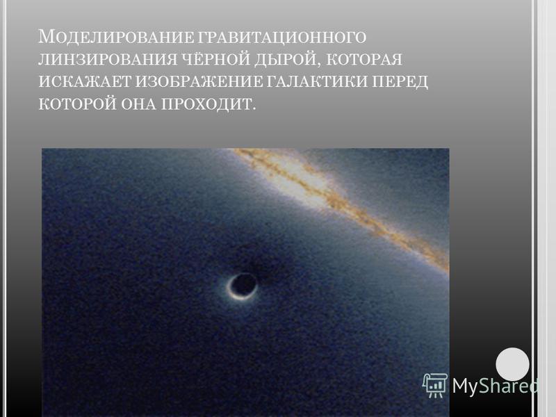 Б ЕЛЫЕ ДЫРЫ Біла діра є тимчасовою протилежністю чорної діри - якщо з чорної діри неможливо вибратися, то в білу діру неможливо потрапити. Білій дірою є область IV в розширеному просторі-часі Шварцшильда - в неї неможливо потрапити з областей I і III
