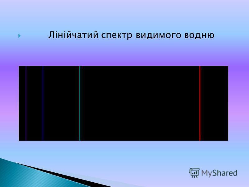 Лінійчатий спектр видимого водню