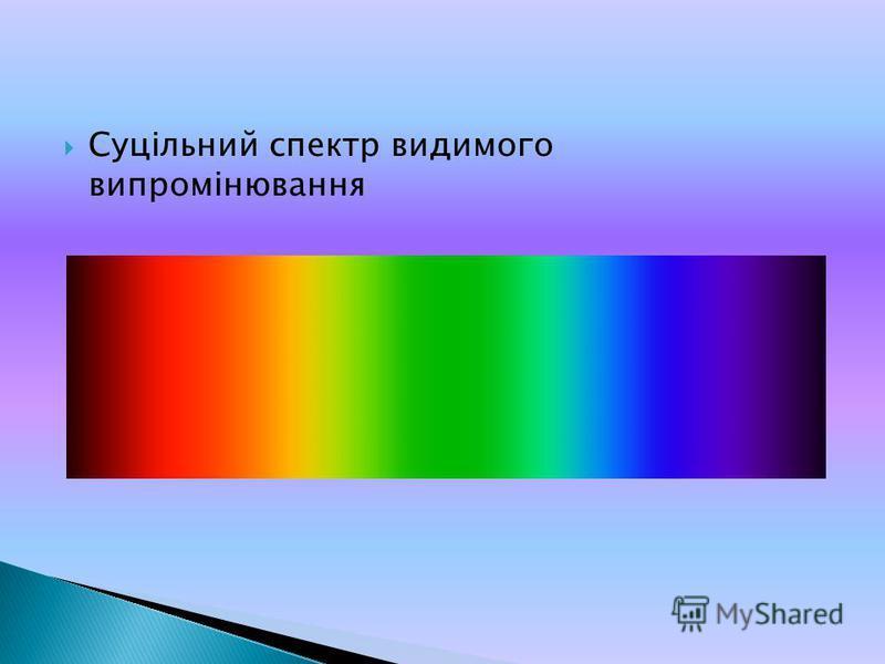 Суцільний спектр видимого випромінювання