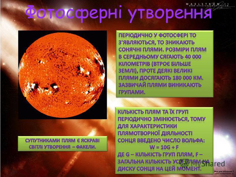 Фотосферні утворення