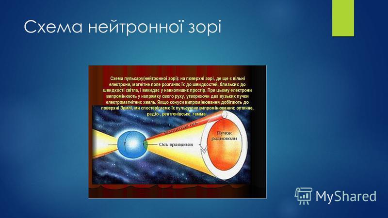 Схема нейтронної зорі