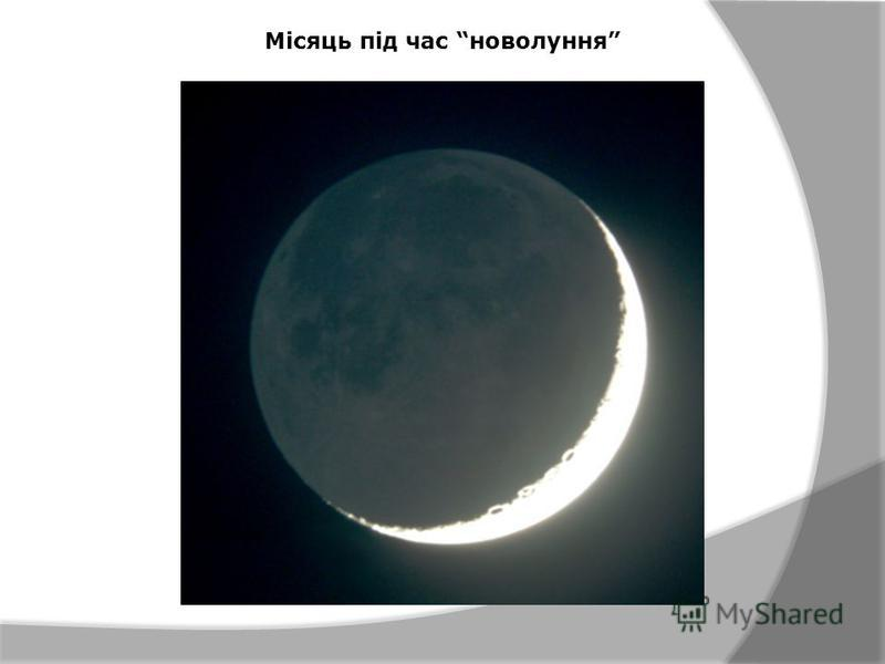 Місяць під час новолуння