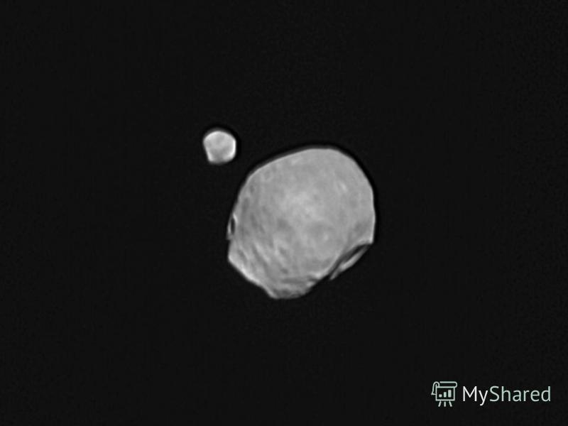 Марс Червона планета. Це колір іржі, яку містять марсіанські скелі, поверхня планети і навіть атмосфера. Марс має два неправильної форми супутники – Фобос і Деймос. Виявити життя на планеті намагалися апарати Вікінг у 1976 р. А у 1997 р. з Марсу спус