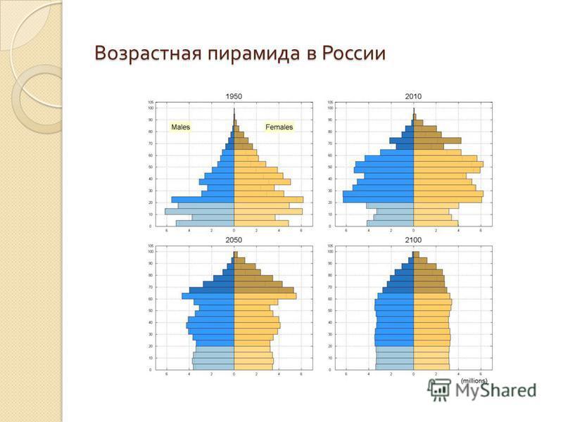 Возрастная пирамида в России