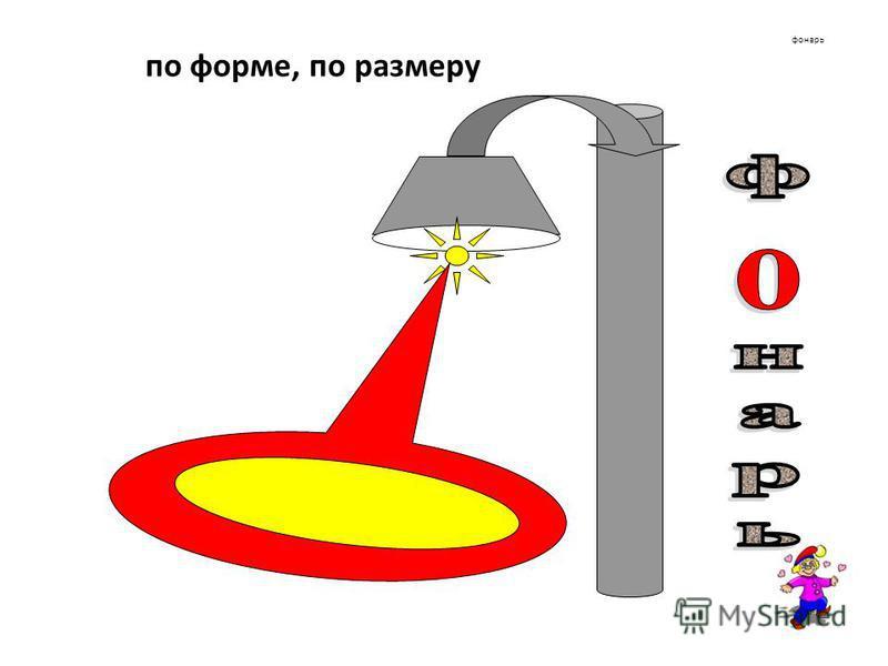 фонарь по форме, по размеру