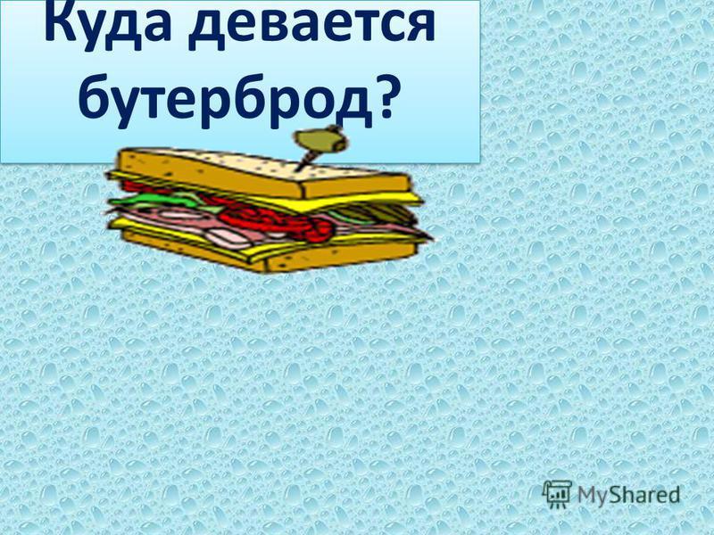 Куда девается бутерброд?