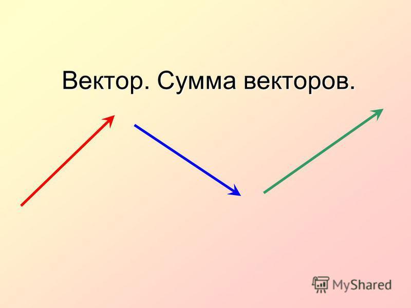 Вектор. Сумма векторов.