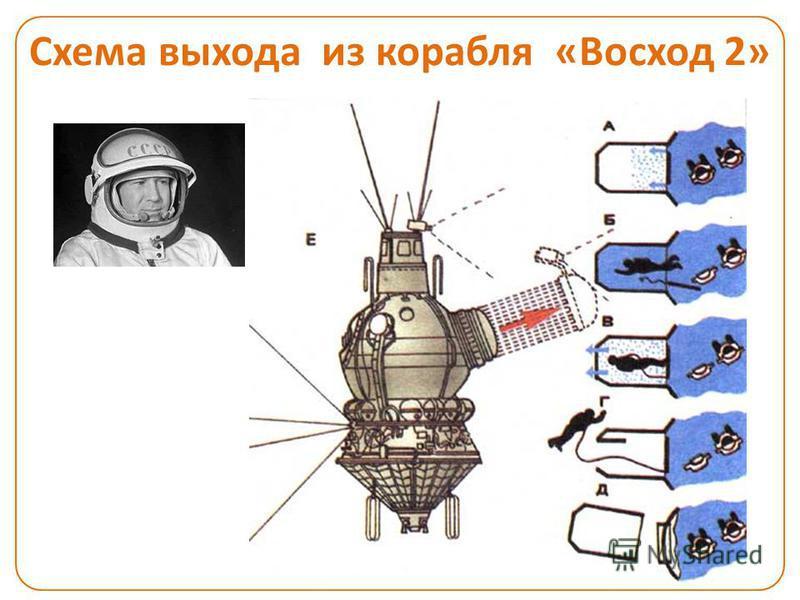 Схема выхода из корабля «Восход 2»