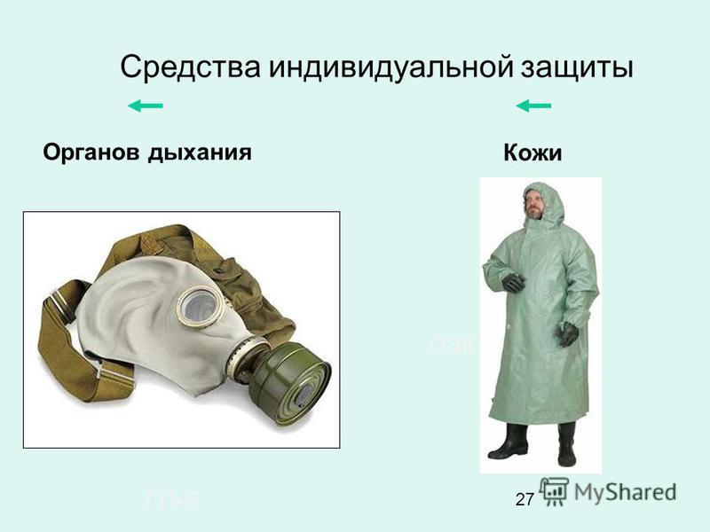 27 Средства индивидуальной защиты Органов дыхания Кожи ГП-5 ОЗК