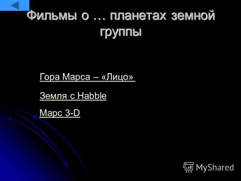 Фильмы о … планетах земной группы Земля c Habble Марс 3-D Гора Марса – «Лицо»