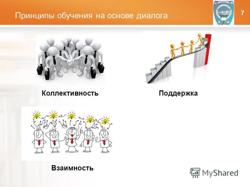 LOGO Принципы обучения на основе диалога ОНПУ Коллективность Взаимность Поддержка 7