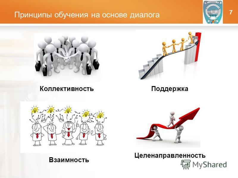 LOGO Принципы обучения на основе диалога ОНПУ Коллективность Взаимность Поддержка Целенаправленность 7