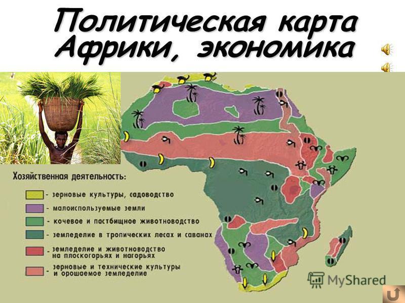 Политическая карта Африки, экономика