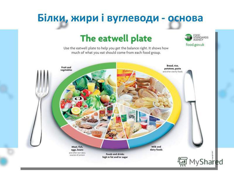 Білки, жири і вуглеводи - основа харчування
