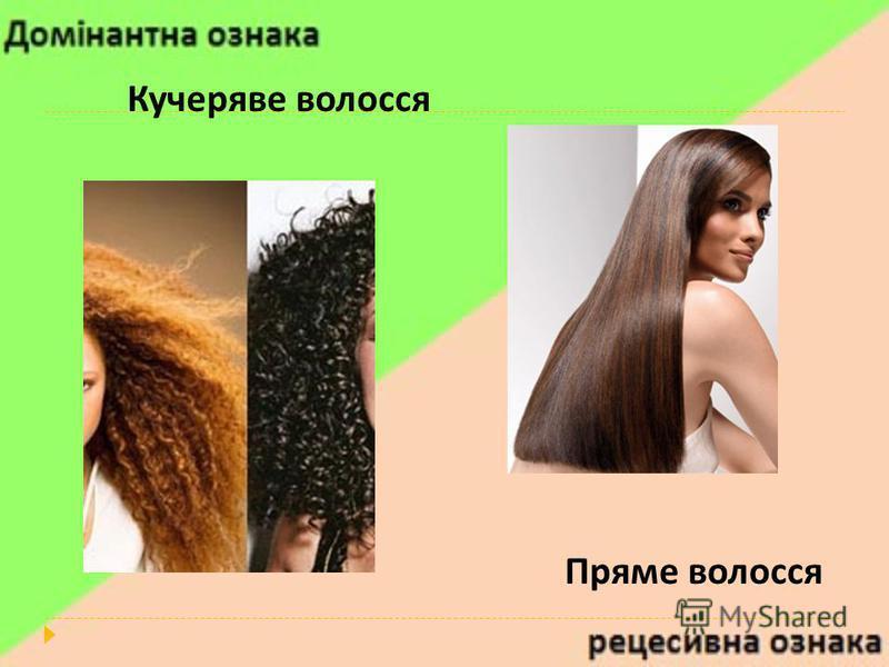 Кучеряве волосся Пряме волосся