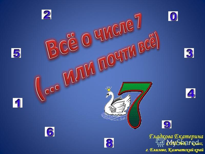 Гладкова Екатерина СОШ 8, 7 класс, г. Елизово, Камчатский край